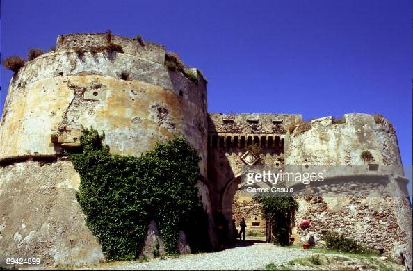 Milazzo, Messina, Sicily. Italy. Entrance to the castle of ...
