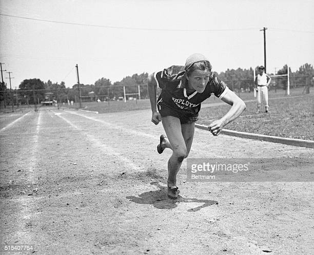 Mildred 'Babe' Didrickson of Dallas Texas the 18 year old star who won the Texas AAU Track meet singlehandedly by winning eight out of ten field...