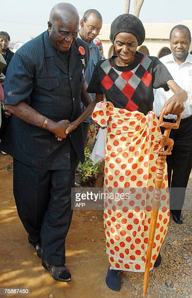 Mildred Mpundu a 42 yearold HIV/AIDS positive Zambian journalist is being being helped by former President of Zambia and Nobel laureate Kenneth...