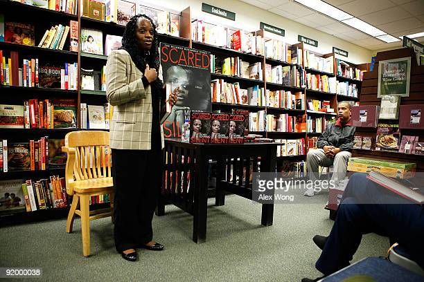 Mildred Muhammad former wife of the convicted DC sniper John Allen Muhammad speaks to readers as her husband Reuben listens during a book reading and...