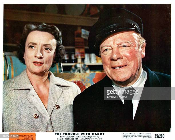 Mildred Natwick and Edmund Gwenn in a scene from the film 'The Trouble With Harry' 1955