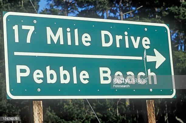 ô17 Mile Driveö scenic drive sign in Pacific Grove