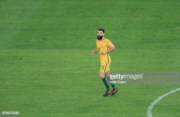 Mile Jedinak during the 2018 FIFA World Cup Qualifiers Leg 2 match between the Australian Socceroos and Honduras at ANZ Stadium on November 15 2017...