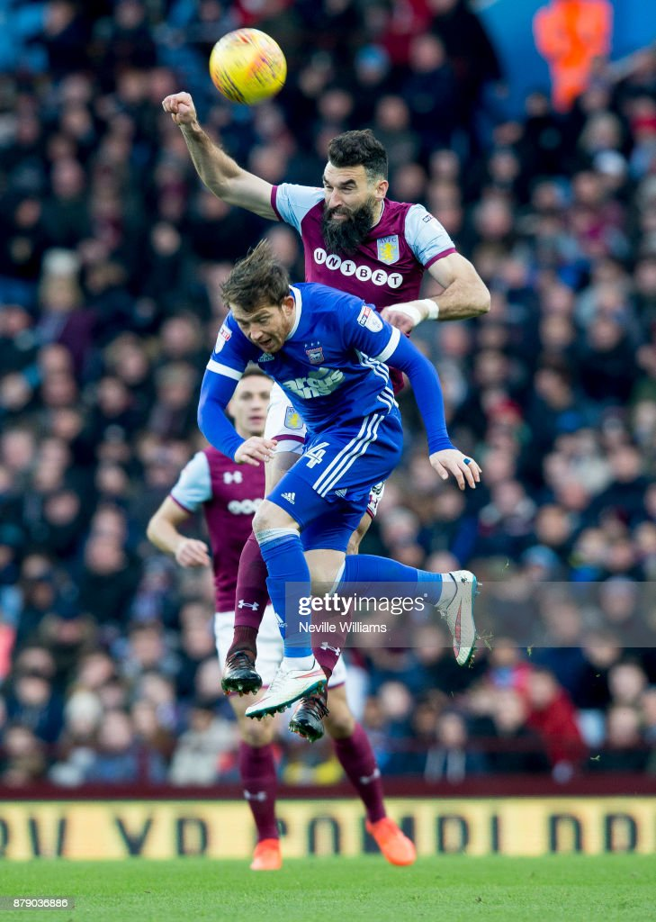 Mile Jedinak of Aston Villa during the Sky Bet Championship match between Aston Villa and Ipswich Town at Villa Park on November 25, 2017 in Birmingham, England.