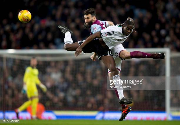 Mile Jedinak of Aston Villa during the Sky Bet Championship match between Aston Villa and Sheffield United at Villa Park on December 23 2017 in...