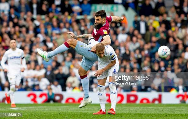 Mile Jedinak of Aston Villa in action during the Sky Bet Championship match between Leeds United and Aston Villa at Elland Road on April 28, 2019 in...