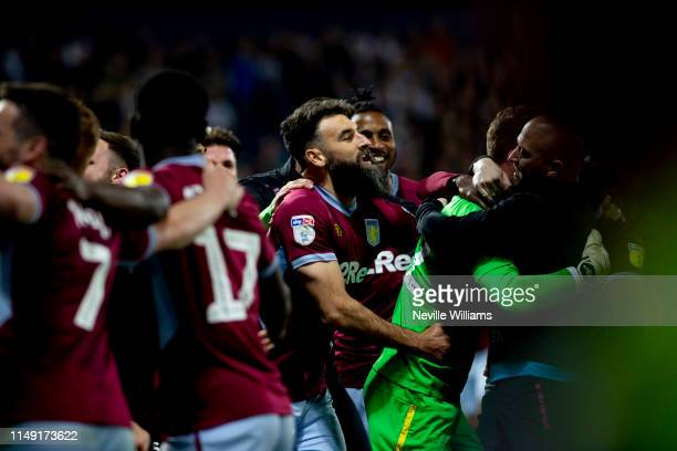 Mile Jedinak of Aston Villa in action during the Sky Bet Championship Play-off Semi Final Second Leg match between West Bromwich Albion and Aston...