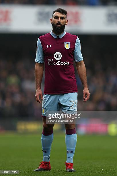Mile Jedinak of Aston Villa looks on during the Sky Bet Championship match between Queens Park Rangers and Aston Villa at Loftus Road on December 18...