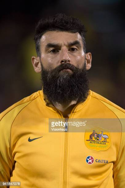Mile Jedinak of Australia before the International Friendly match between Australia and Colombia at Craven Cottage on March 27 2018 in London England