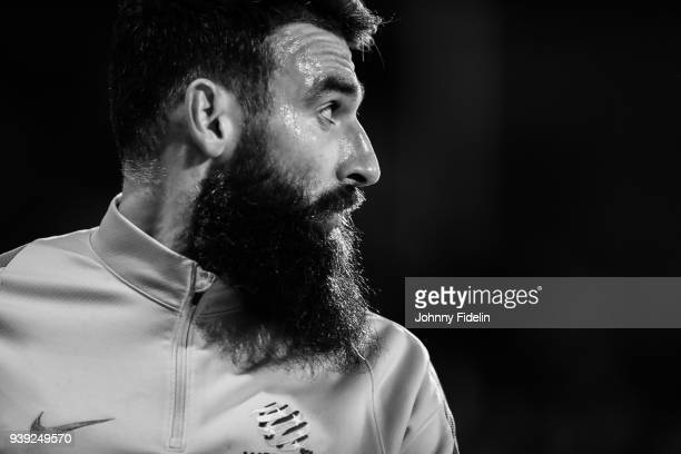Mile Jedinak of Australia during the International friendly match between Colombia and Australia at Craven Cottage on March 27 2018 in London England
