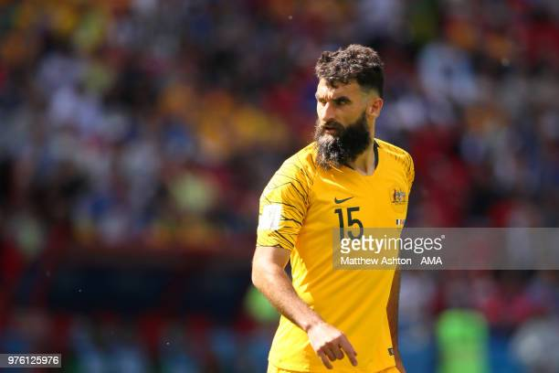Mile Jedinak of Australia looks on during the 2018 FIFA World Cup Russia group C match between France and Australia at Kazan Arena on June 16 2018 in...
