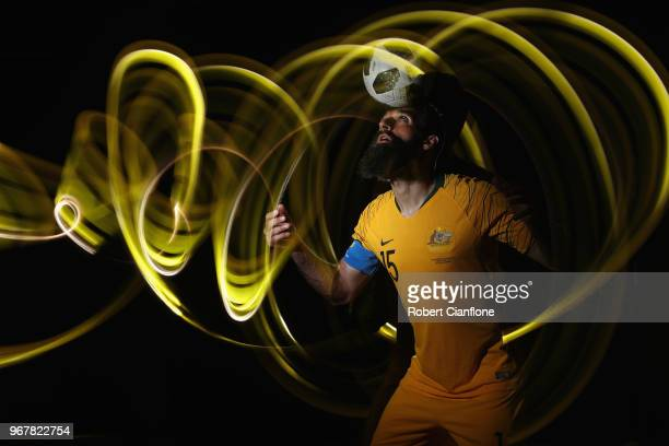 Mile Jedinak of Australia poses during the Australian Socceroos Portrait Session at the Gloria Serenity Resort on June 5 2018 in Antalya Turkey