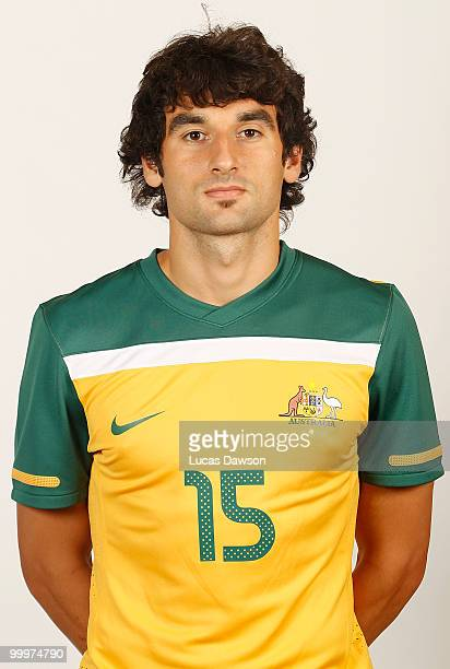 Mile Jedinak of Australia poses for a portrait during an of Australian Socceroos portrait session at Park Hyatt on May 19 2010 in Melbourne Australia