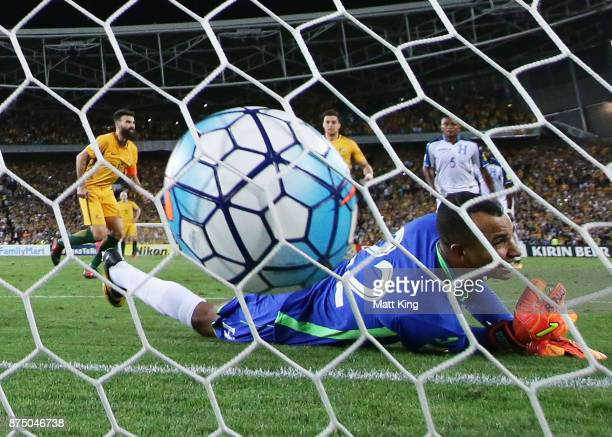 Mile Jedinak of Australia scores his second goal during the 2018 FIFA World Cup Qualifiers Leg 2 match between the Australian Socceroos and Honduras...