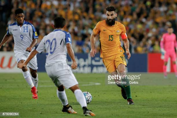 Mile Jedinak of the Australia dribbles the ball during the 2nd leg of the 2018 FIFA World Cup Qualifier between the Australia and Honduras at Stadium...