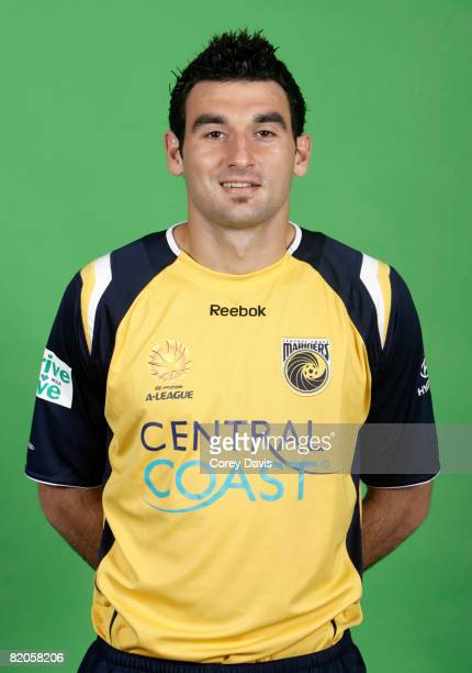 Mile Jedinak poses during the official Central Coast Mariners 2008/2009 Hyundai ALeague portrait session at Bluetounge Stadium on July 15 2008 in...