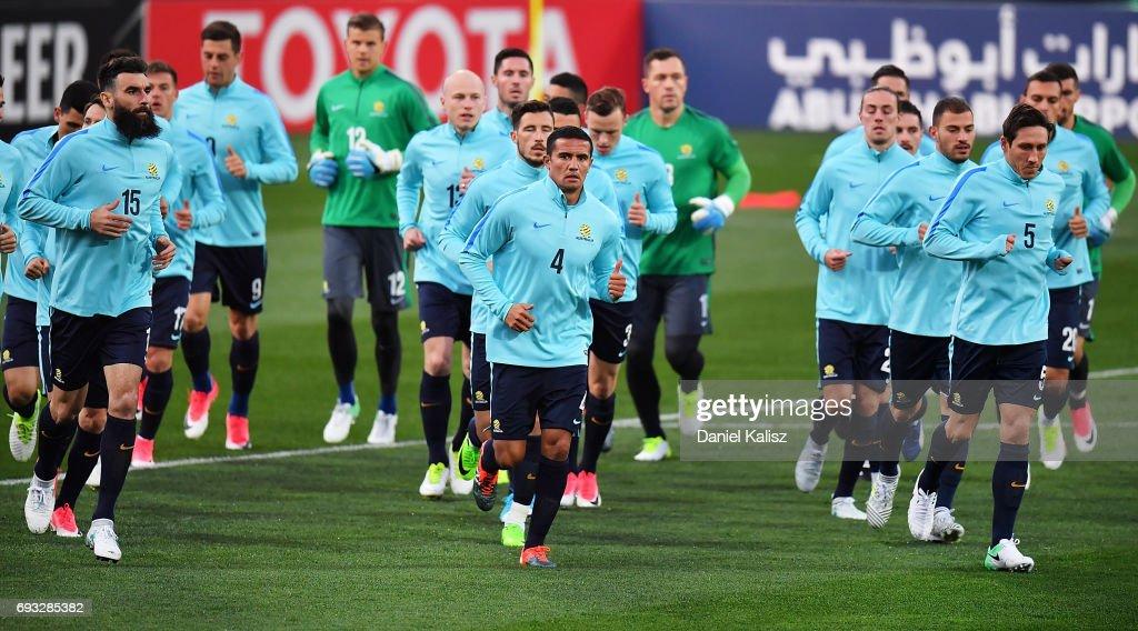 Australian Socceroos Training Session