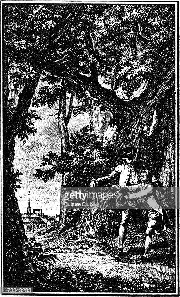 'Émile ou De l'éducation' by JeanJacques Rousseau Illustration from engraving by Delvaux after drawing by Moreau the Younger Edition published in...