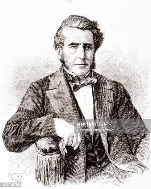Émile Péreire 1800 – 1875 Prominent 19thcentury financier in Paris France From L'Univers Illustre published June 1863