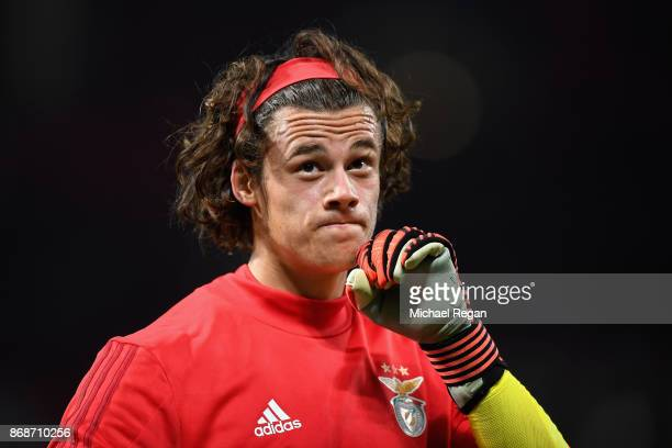 Mile Svilar of Benfica ahead of the UEFA Champions League group A match between Manchester United and SL Benfica at Old Trafford on October 31 2017...