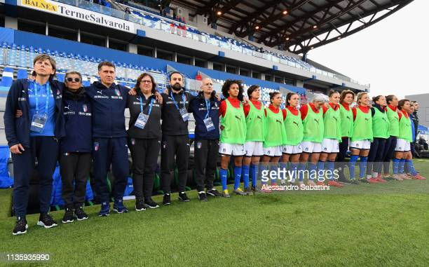 Milena Bertolini head coach of Italy Woman looks on during the International Friendly match between Italy Women and Ireland Women at Mapei Stadium...
