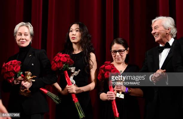 Milena Canonero awarded with Honorary Golden Bear South Korean actress Kim Minhee awarded with the Silver Bear award for best actress Hungarian...