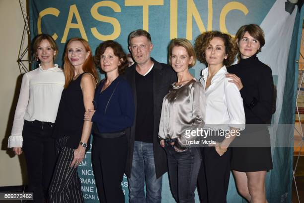 Milena Dreissig, Andrea Sawatzki, Victoria Trauttmansdorff, Andreas Lust, Judith Engel. Marie-Lou Sellem and Nicole Marischka attend the 'Casting'...
