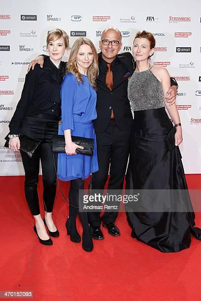 Milena Dreissig Diana Staehly Christoph Maria Herbst and Tatjana Alexander attend the World premiere of Stromberg Der Film at Cinedom Koeln on...