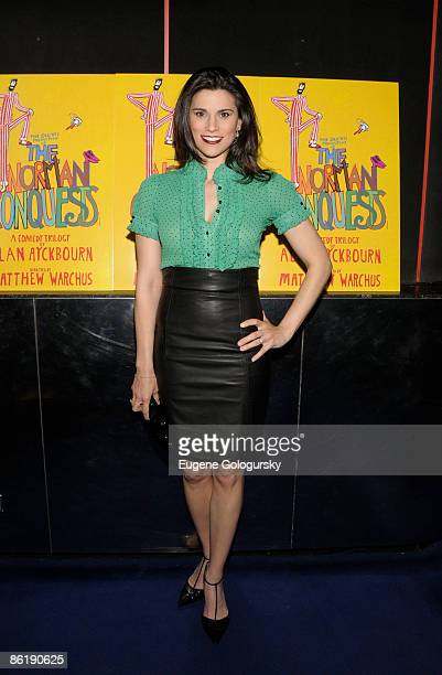 Milena Govich attends the Broadway opening night of The Norman Conquests at Circle In The Square Theatre on April 23 2009 in New York City