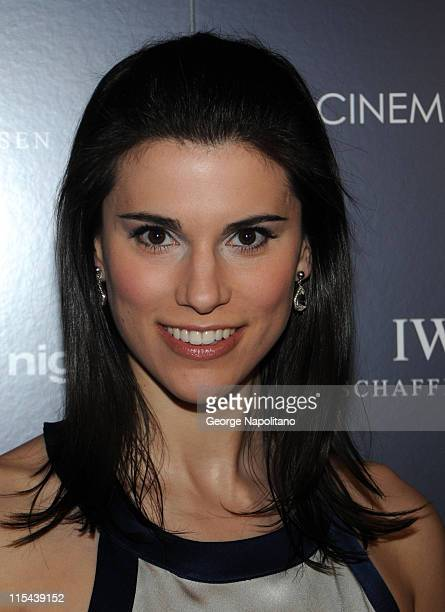 Milena Govich attends the premiere of My Blueberry Nights hosted by the Cinema Society and IWC at the Tribeca Grand Hotel on April 2 2008 in New York...