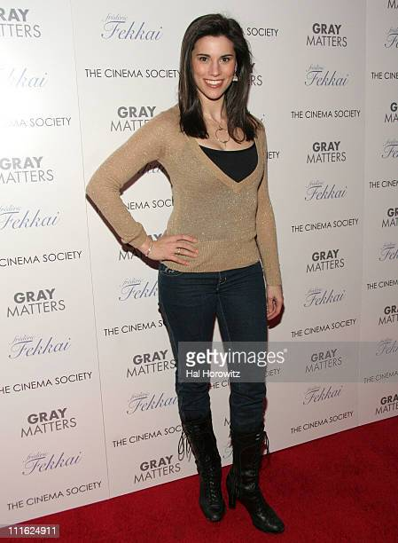 Milena Govich during The Cinema Society and Frederic Fekkai Host a Screening for Gray Matters Red Carpet at IFC Film Center in New York City New York...