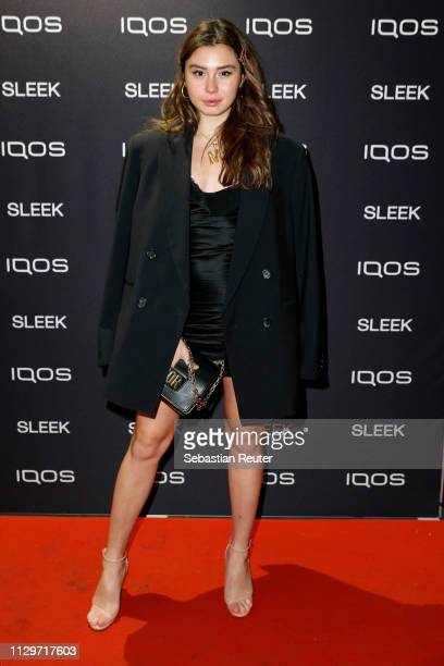 Milena Karl during the Sleek X IQOS Valentines Party at Claerchens Ballhaus on February 14 2019 in Berlin Germany