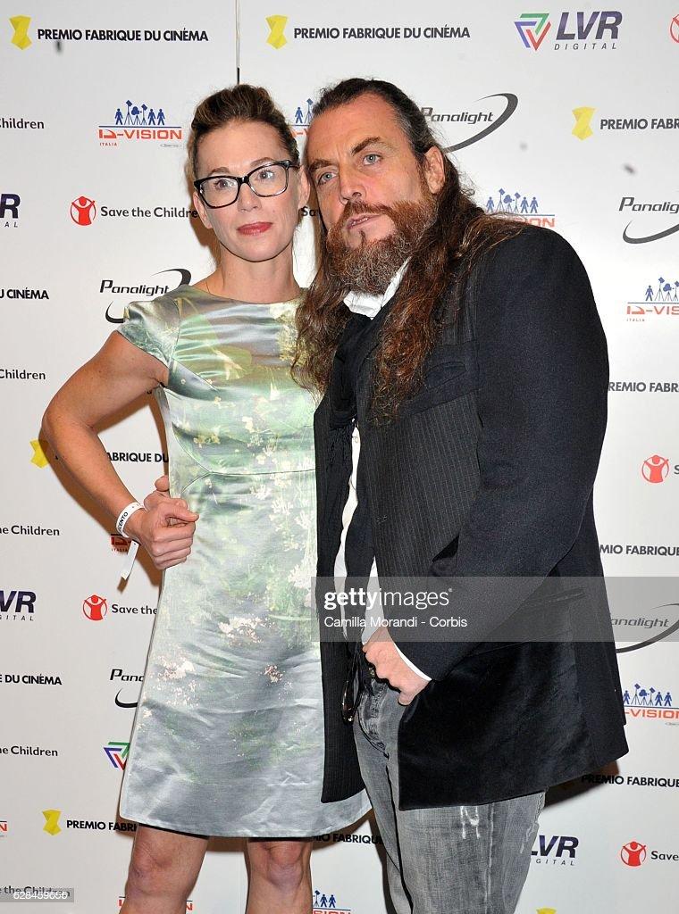 Milena Mancini and Mirko Frezza attends the Fabrique Du Cinema Awards In Rome on December 7, 2016 in Rome, Italy.
