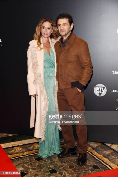 Milena Mancini and Vinicio Marchioni attend the Vanity Fair Stories 2019 Awards Photocall at The Space Cinema Odeon on November 23 2019 in Milan Italy