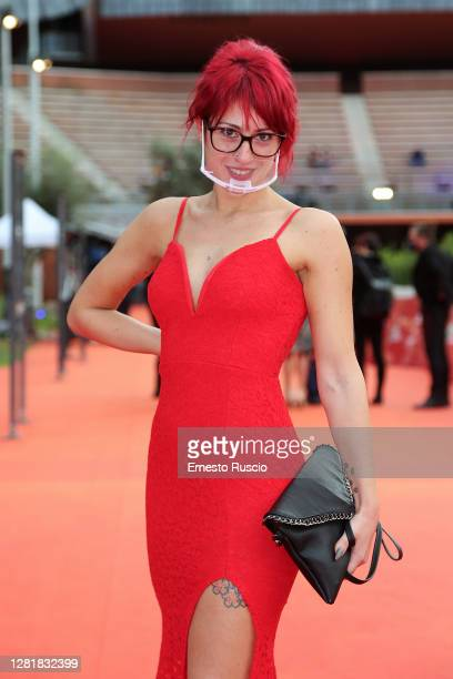 Milena Maragni poses the red carpet during the 15th Rome Film Festival on October 23, 2020 in Rome, Italy.