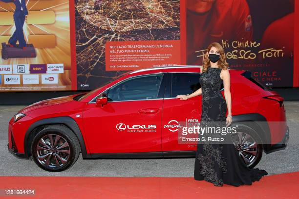 """Milena Miconi arrives on the red carpet ahead of the """"El Olvido Que Seremos"""" screening during the 15th Rome Film Fest on October 22, 2020 in Rome,..."""