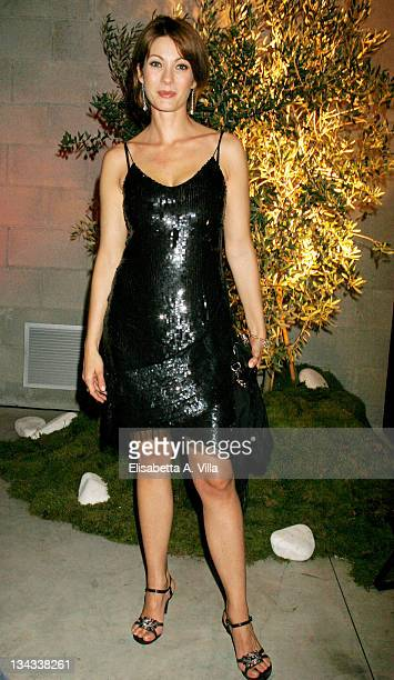 Milena Miconi attends the Galantuomini party at Officine Farneto during the 3rd Rome International Film Festival on October 27 2008 in Rome Italy