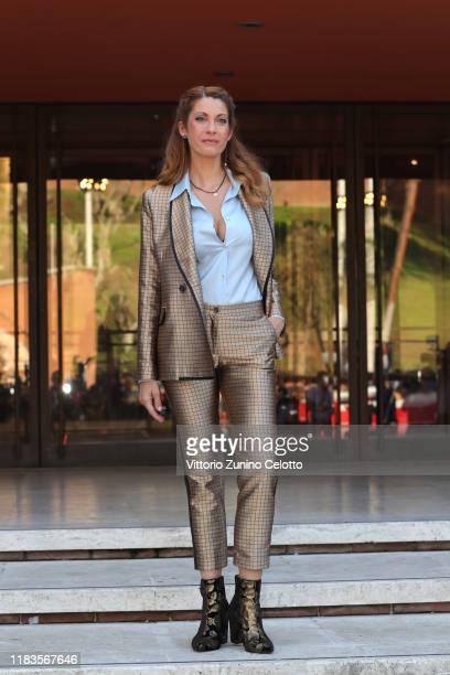 Milena Miconi attends the red carpet of the movie Cecchi Gori Una famiglia italiana during the 14th Rome Film Festival on October 26 2019 in Rome...