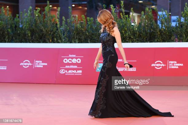 """Milena Miconi attends the red carpet of the movie """"El Olvido Que Seremos"""" during the 15th Rome Film Festival on October 22, 2020 in Rome, Italy."""