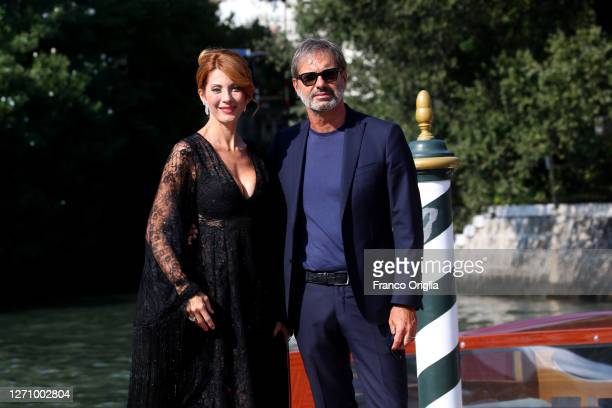 Milena Miconi is seen arriving at the Excelsior during the 77th Venice Film Festival on September 06, 2020 in Venice, Italy.