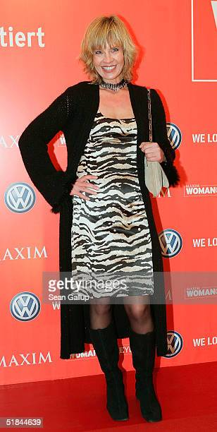 Milena Preradovic arrives at Maxim's Woman of the Year Award on December 9 2004 at the Axel Springer building in Berlin Germany