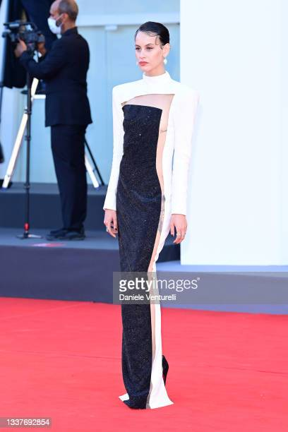 """Milena Smit attends the red carpet of the movie """"Madres Paralelas"""" during the 78th Venice International Film Festival on September 01, 2021 in..."""