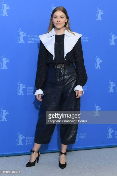"""Milena Tscharntke poses at the """"The Roads Not Taken"""" photo call during the 70th Berlinale International Film Festival Berlin at Grand Hyatt Hotel on..."""