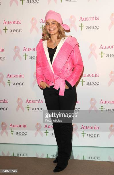 Milene Dmingues attends 'Ausonia' campaign against breast cancer lunch cocktail at Shoko Club, on January 20, 2009 in Madrid, Spain.