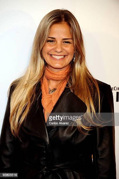 Milene Domingues attends Spanish Movie premiere at Kinepolis cinema on December 3 2009 in Madrid Spain