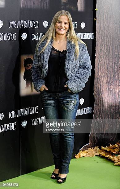 Milene Dominguez attends the premiere of ''Where The Wild Things Are'' at Callao cinema on December 10, 2009 in Madrid, Spain.