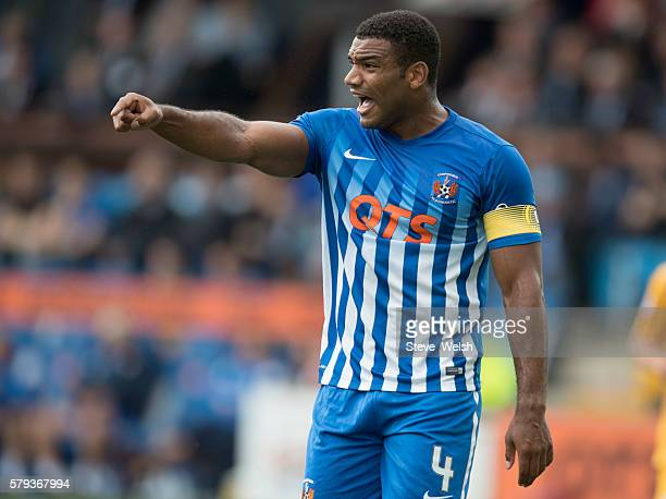 Miles Addison of Kilmarnock during the Betfred Cup First Round between Kilmarnock Football Club and Morton at Rugby Park on July 23 2016 in...