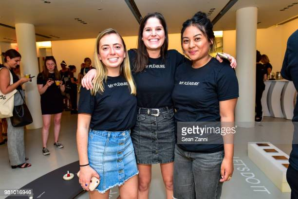 Miles Barretto Subifara Mgaobighumbong and Douglas Escalante attend Thinx Hosts Come As You Are In Celebration Of Period Sex Blanket at Thinx Come As...