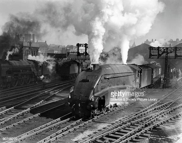 Miles Beevor A4 Class steam locomotive No 60026 leaving Leeds with the Yorkshire Pullman service for London Photograph by Bishop Eric Treacy
