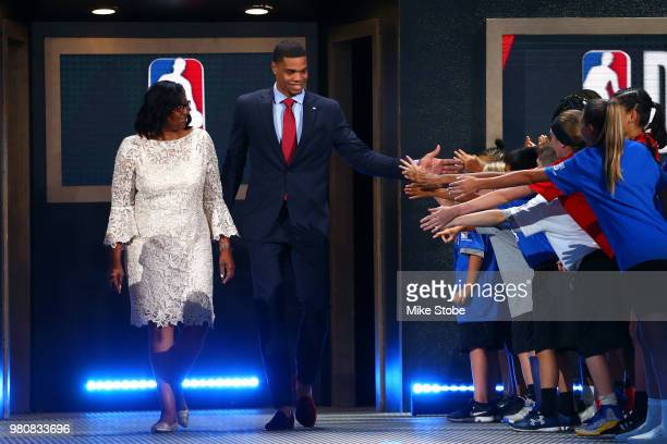 Miles Bridges is introduced before the 2018 NBA Draft at the Barclays Center on June 21 2018 in the Brooklyn borough of New York City NOTE TO USER...